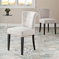 Safavieh 2 pc Sinclaire Cotton Blend Side Chair Set