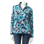 Croft and Barrow Floral French Terry Jacket - Petite