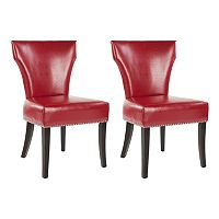 Safavieh 2 pc Jappic Bicast Leather Side Chair Set