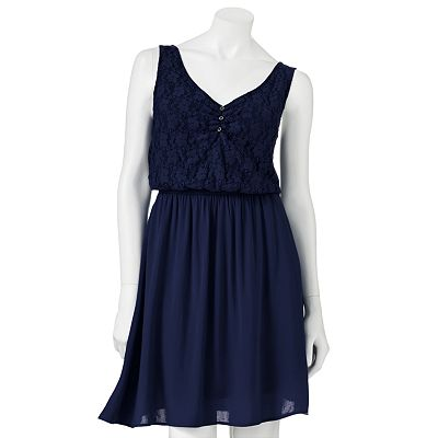 Rewind Lace Tie-Back Dress - Juniors