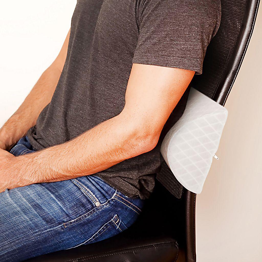 Ideal Comfort Memory Foam Lumbar Travel Pillow
