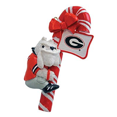Georgia Bulldogs Candy Cane Ornament