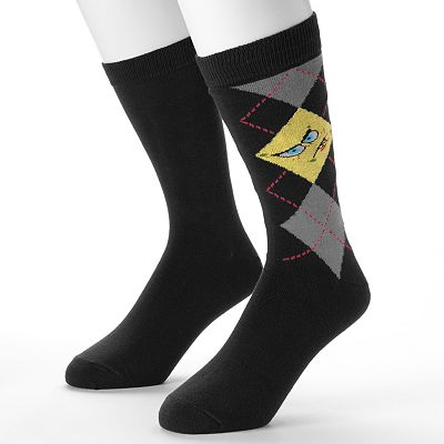 SpongeBob SquarePants 2-pk. Argyle Men's Crew Socks