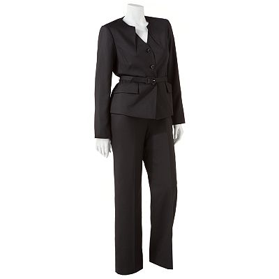 Isabella Peplum Suit Jacket and Pant Set