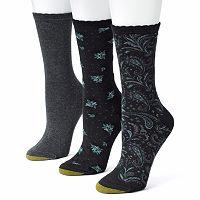 GOLDTOE 3 pkFloral Crew Socks