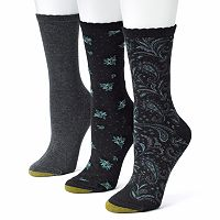 GOLDTOE 3-pk. Floral Crew Socks