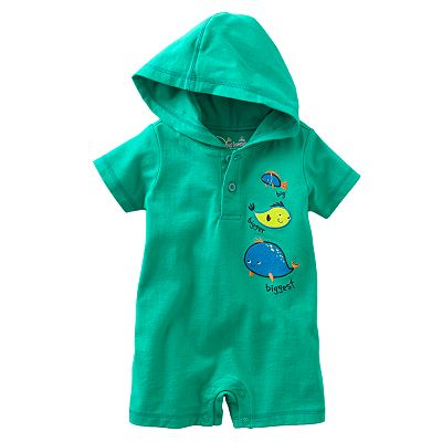 Jumping Beans Fish Turn Me Around Hooded Romper - Baby
