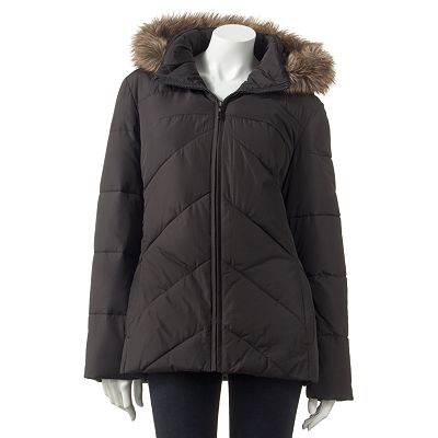 Apt. 9 Hooded Puffer Coat - Petite