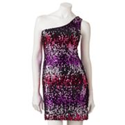 Lily Rose Sequin Asymmetrical Dress - Juniors
