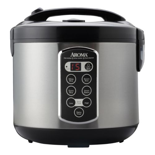 Aroma Cool-Touch 20-Cup Rice Cooker, Steamer and Slow Cooker