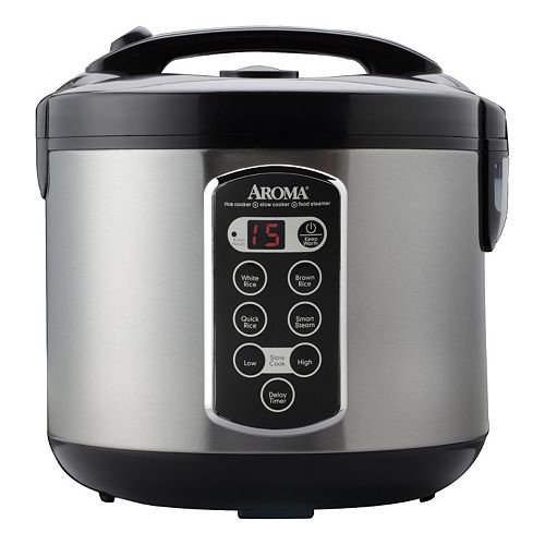 Aroma 4-in-1 20-Cup Stainless Steel Rice Cooker