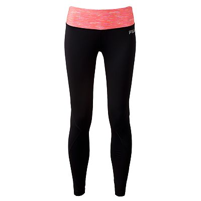 FILA SPORT Space-Dye Reflective Performance Running Leggings
