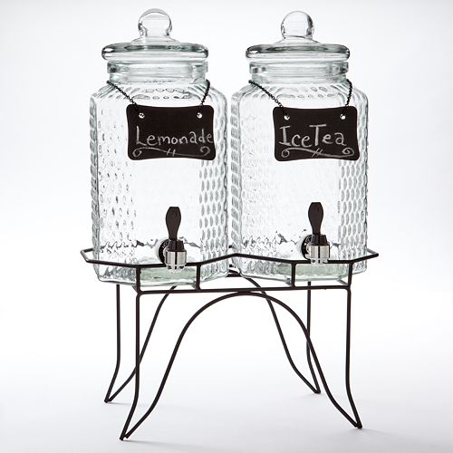 Home Essentials Double Jug Beverage Dispenser