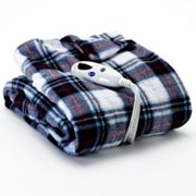 Biddeford Plaid Plush Electric Throw