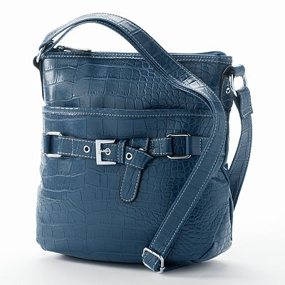 Croft and Barrow Crocodile Belted Cross-Body Bag
