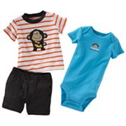 Carter's Monkey Bodysuit Set - Baby