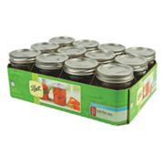 Fox Run 8-oz. Regular Mouth Mason Jars - 12-pk.