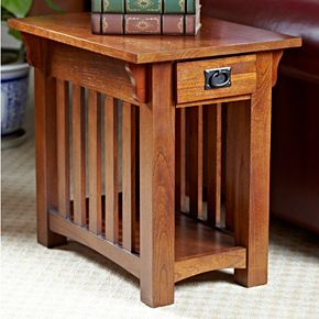 Leick Furniture Mission Sienna Chairside Table