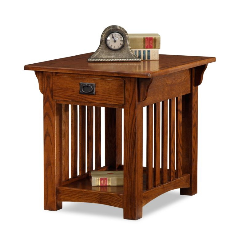 Leick Furniture Mission Sienna End Table, Brown