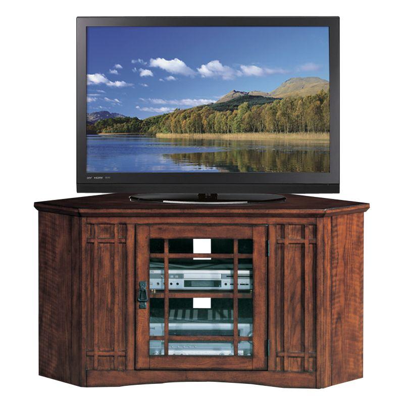 Leick Furniture Mission Corner TV Stand, Brown