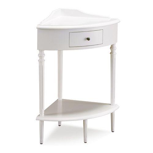 Leick Furniture White Corner TV Stand