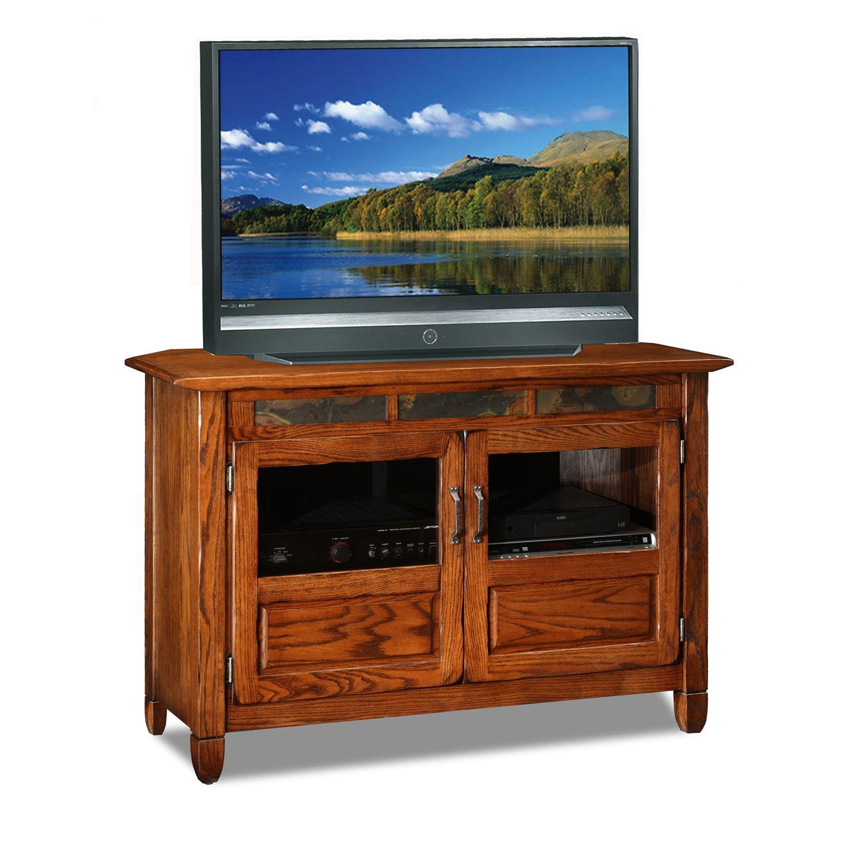 leick furniture oak tv stand - Leick Furniture