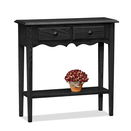 Leick Furniture Black Console Slate Table