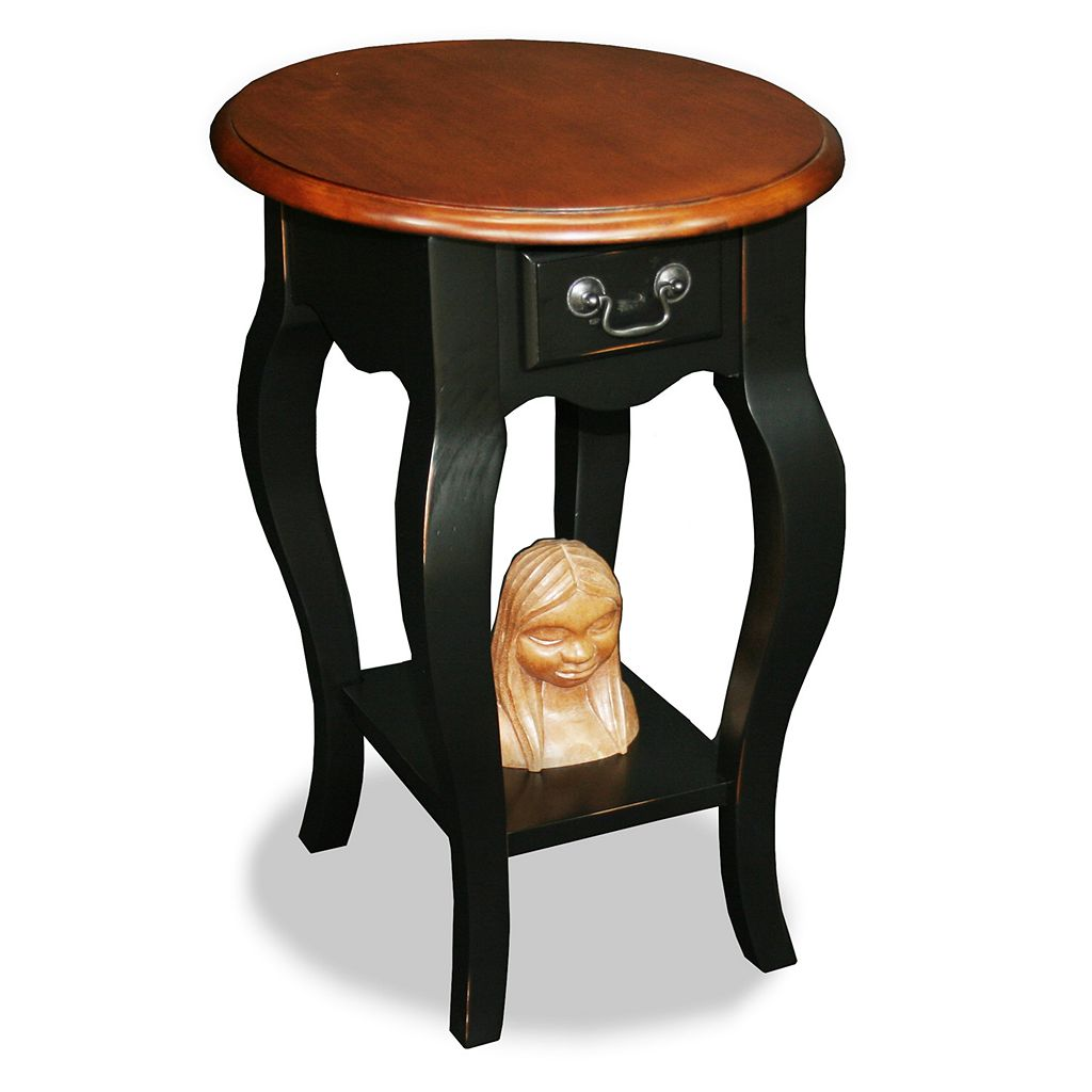 Leick Furniture Two-Tone Oval Side Table