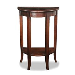 Leick Furniture Chocolate Bronze-Tone Demilune Stand