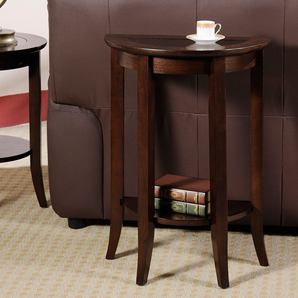 Leick Furniture Chocolate Bronze-Tone Demilune Stand