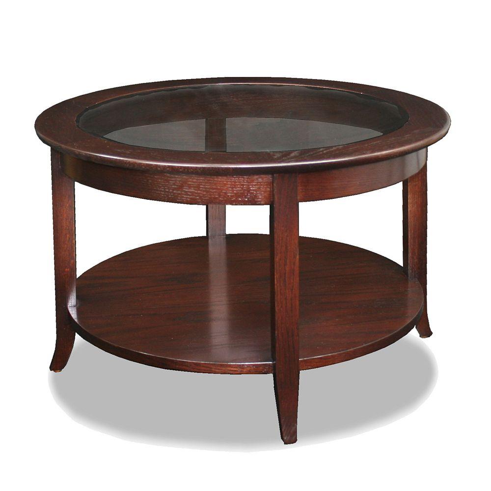 Leick Furniture Chocolate Bronze-Tone Coffee Table