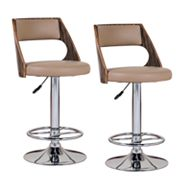 Leick Furniture 2-pc. Saddle Adjustable Swivel Bar Stool Set