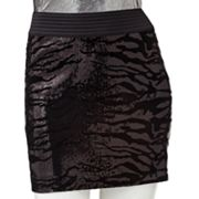 Rock and Republic Sequin Zebra Miniskirt