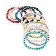 Dyed Freshwater Cultured Pearl Stretch Bracelet Set