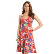 Chaps Floral Empire Dress