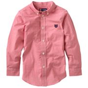 Chaps Gingham Woven Button-Down Shirt - Boys 4-7