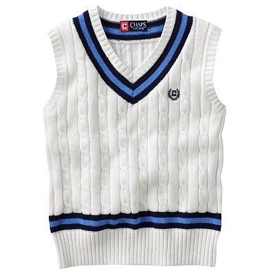 Chaps Cable-Knit Sweater Vest - Boys 4-7