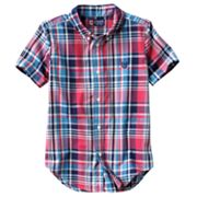 Chaps Plaid Poplin Button-Down Shirt - Boys 4-7