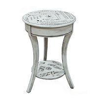 Carolina Cottage Parisian Script Accent Table