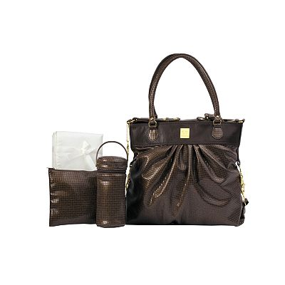 Kalencom City Slick Faux-Snakeskin Diaper Bag Set