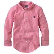 Chaps Yarn-Dyed Striped Woven Button-Down Shirt - Boys 4-7