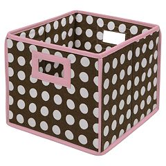 Badger Basket Polka-Dot Folding Storage Cube