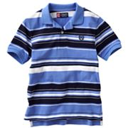 Chaps Striped Pique Polo - Boys 4-7
