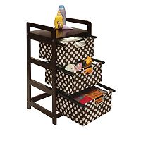 Badger Basket Dotted Three-Drawer Hamper