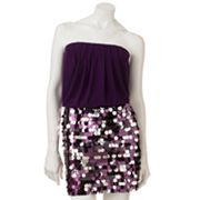 Lily Rose Sequin Strapless Dress - Juniors