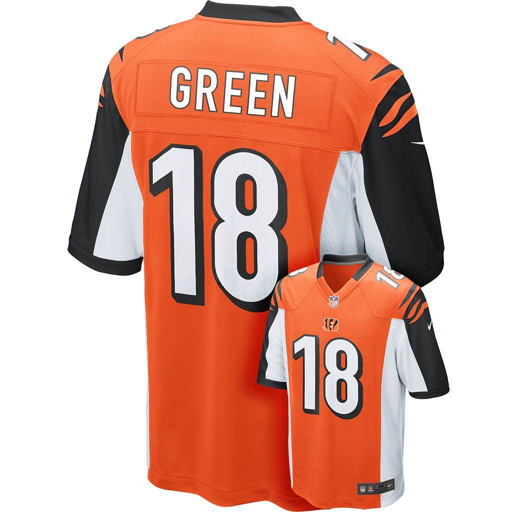 Men's Nike Cincinnati Bengals A.J. Green Game NFL Replica Jersey