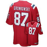 Men's Nike New England Patriots Ron Gronkowski Game NFL Replica Jersey