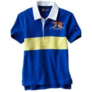Chaps Yarn-Dyed Rugby-Striped Polo - Boys 4-7