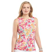 Chaps Floral Top - Women's Plus