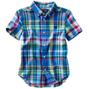 Chaps Plaid Button-Down Shirt - Boys 4-7